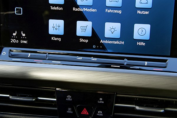 Touch- and sliding controls